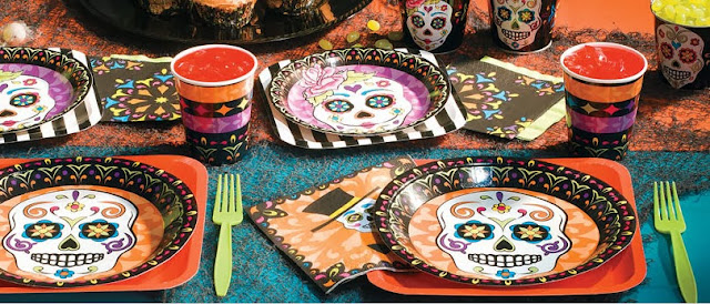 Dia De Los Muertos Day Of The Dead party idea tableware