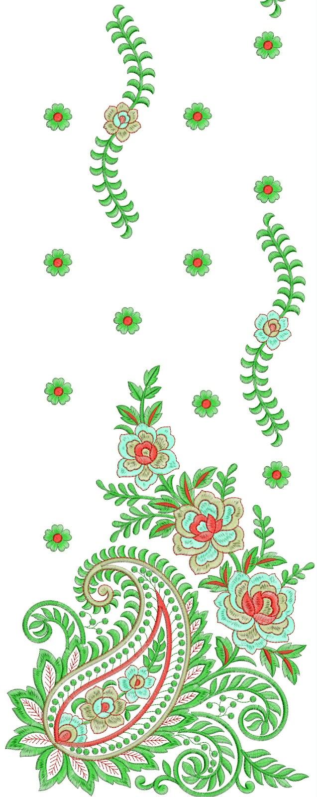 Hand embroidery mango designs makaroka