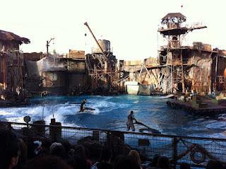 WaterWorld Stunt Show.