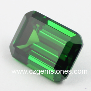 green emerald cut cubic zirconia