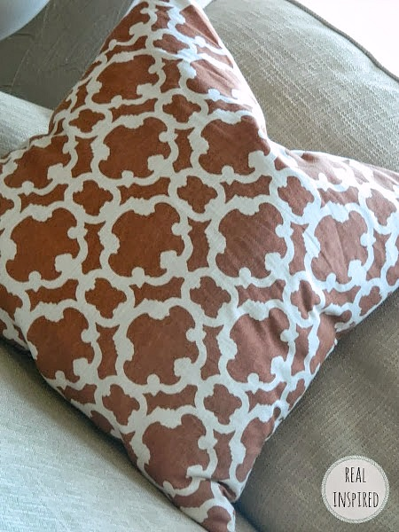 DIY Orange Fall Pillows