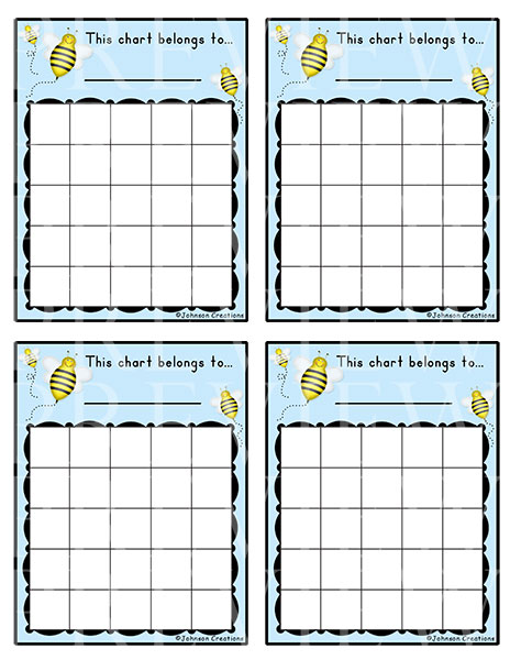 Johnson Creations New Behavior Charts Amp Reward Charts