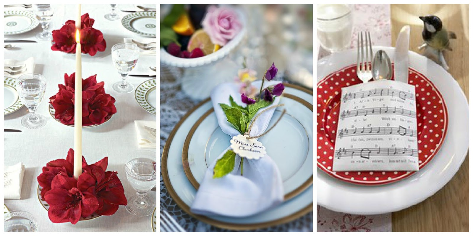 Il giardino di fasti floreali apparecchiare durante le - Apparecchiare la tavola a natale ...