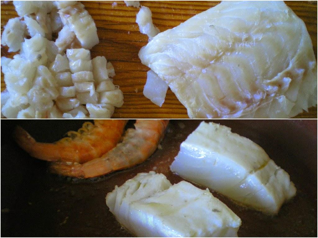 Arroz con bacalao y langostinos (Bacalao)
