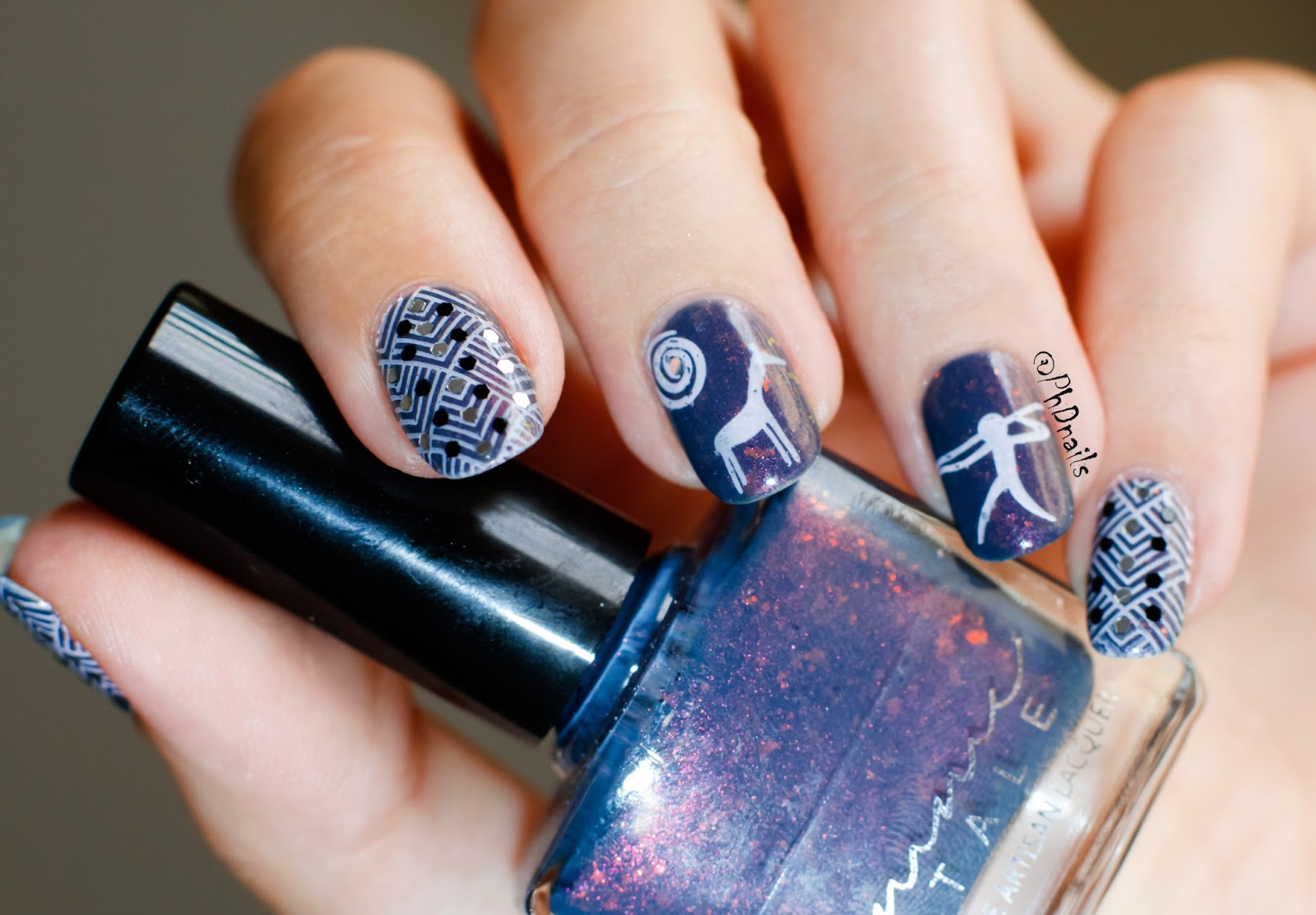 PhD nails: Femme fatale Lantern waste and tribal stamping nail art ...