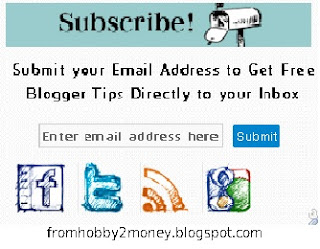 New social subscribe widget for blogger