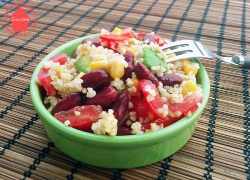 salade mexicaine haricots rouges maïs avocat tomates boulghour