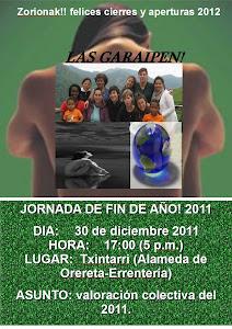 30 DE DICIEMBRE: JORNADA FIN DE AÑO GARAIPEN