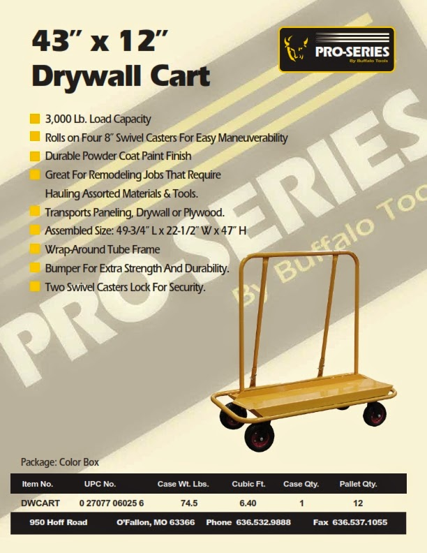 Buffalo Drywall Cart