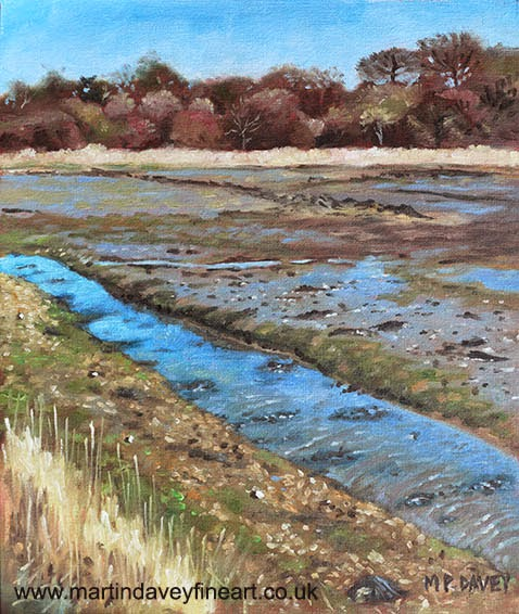 Lagoon, River Hamble, Hampshire oil painting