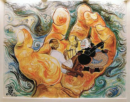 Affandi 1907 1990 paintings indonesia gallery for Mural indonesia