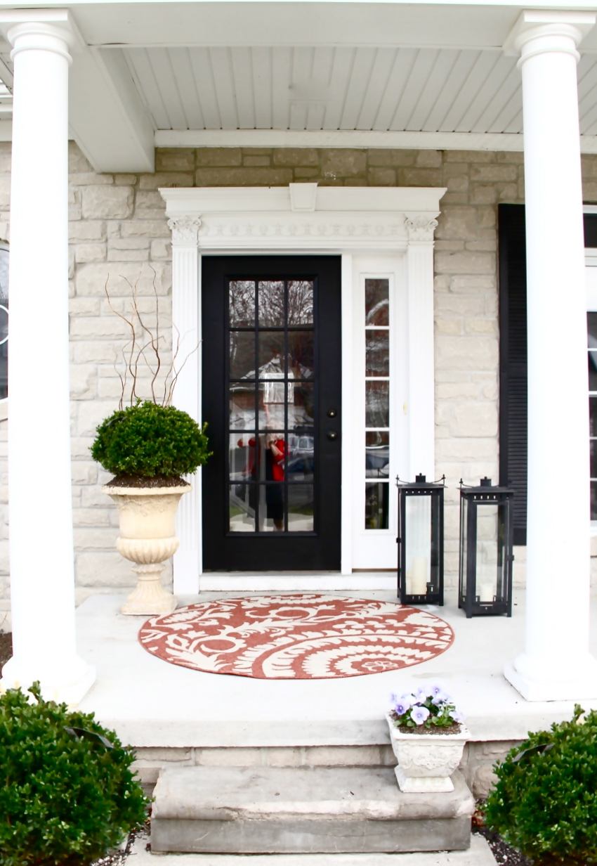 The yellow cape cod how to create a low maintenance for Cape cod front door styles