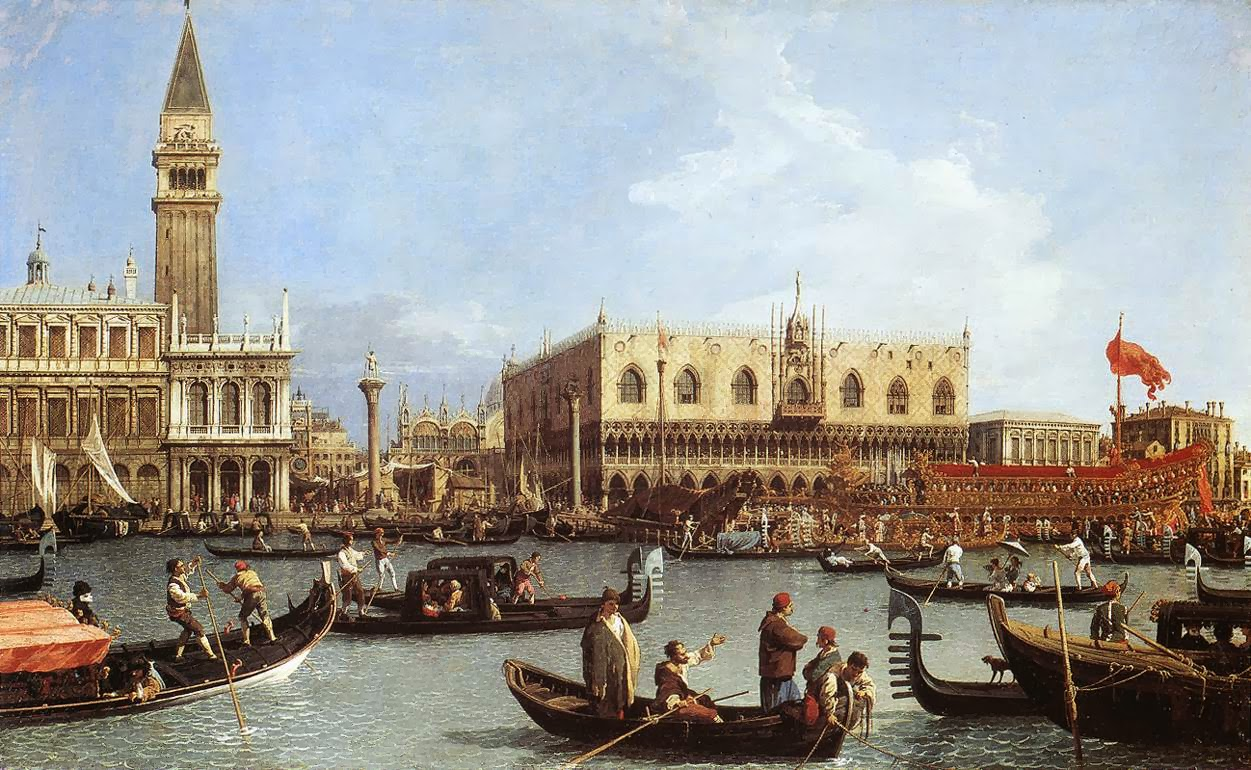 Canaletto Return of the Bucentoro to the Molo on Ascension Day, 1732.