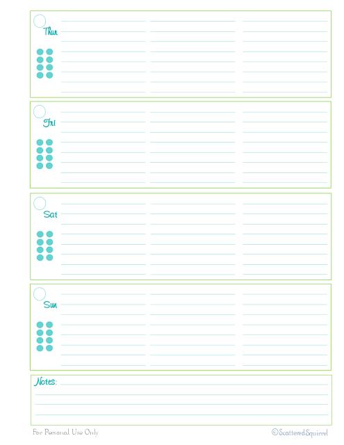 free printable planner home management binder