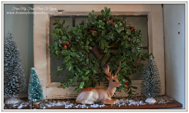 Vintage-Deer Toy-Christmas Vignette-A Merry little Christmas- From My Front Porch To Yours