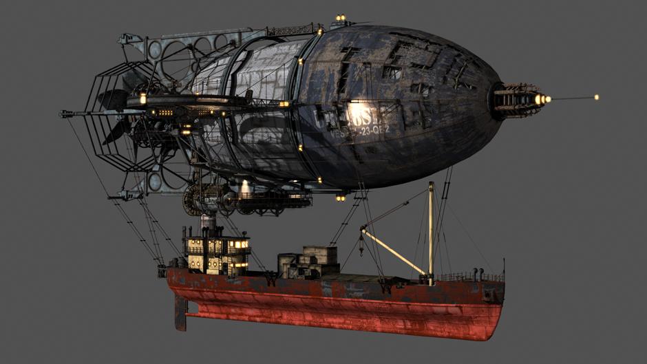Scott Padbury 3d: Steampunk Airship