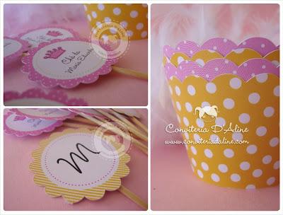 decoração cha bebe menina rosa amarelo
