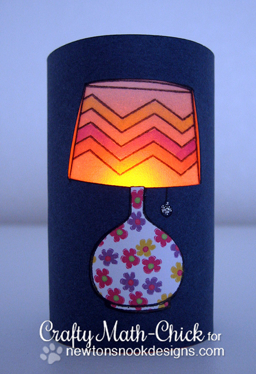 Lamp Luminary by Crafty Math-Chic using Around the House stamp set | Newton's Nook Designs