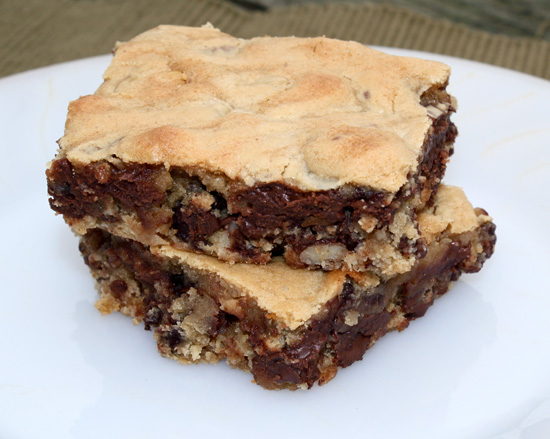 Blonde Brownies ~ Perfectly Adapted