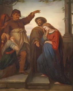 Obra José y Maria en busca de refugio de Carl Rahl