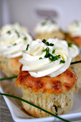 savoury cupcakes made with Arbroath Smokie fish