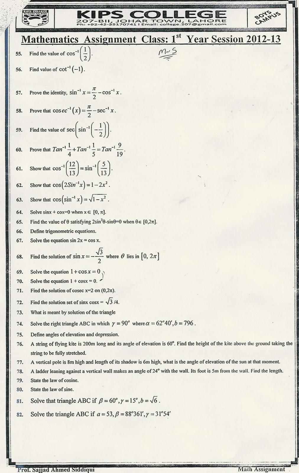 b sc management math notes