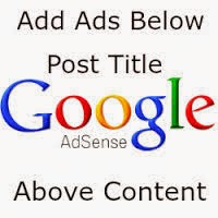 Where you want Adsense Show in Your Blog Post