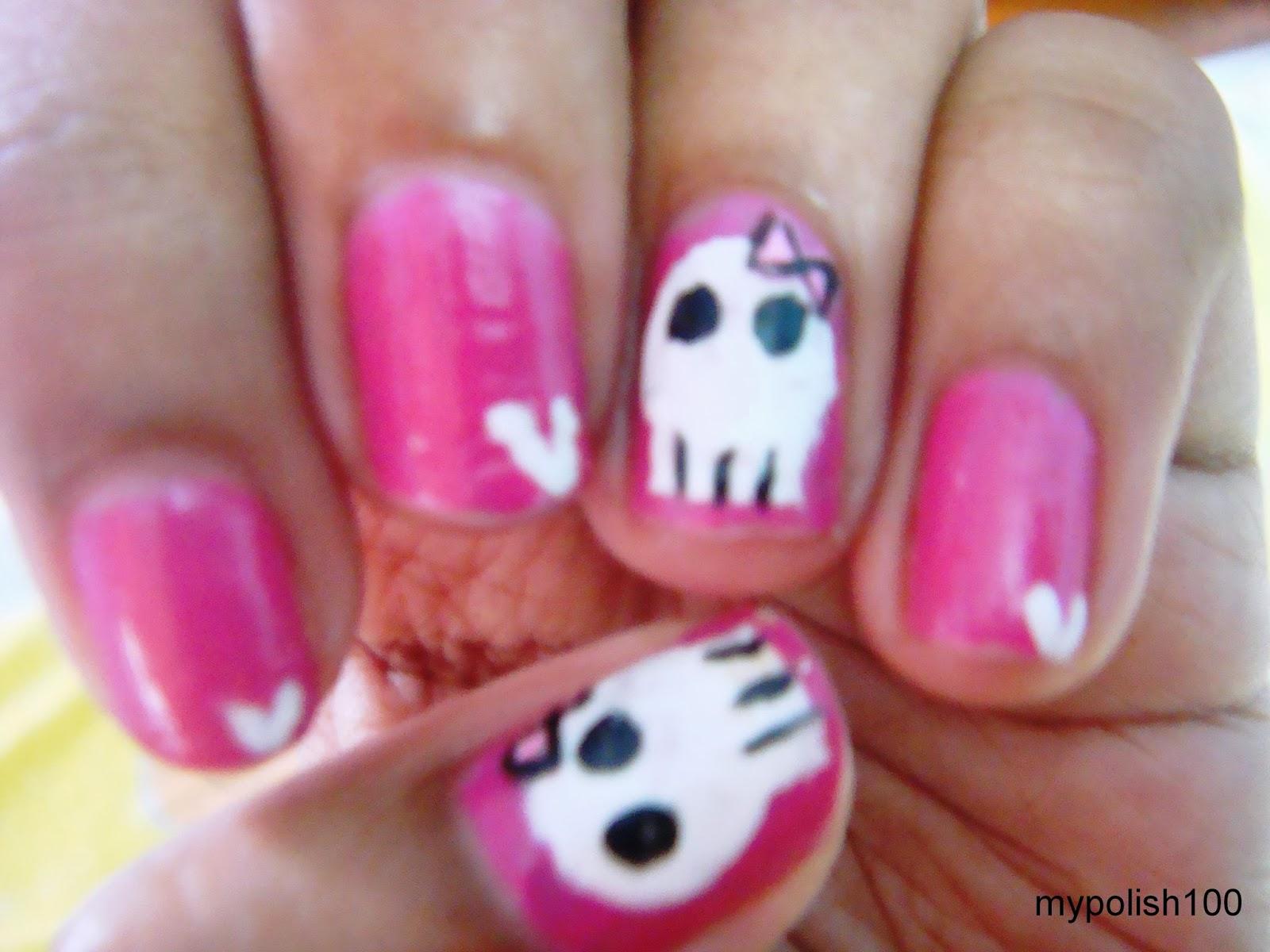 pinkrafts: sugar skull nails!!!! (halloween nails)