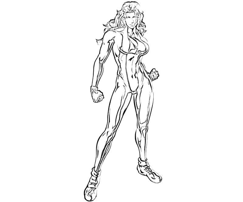 Marvel Vs Capcom She Hulk Character Yumiko Fujiwara Marvel Characters Coloring Pages