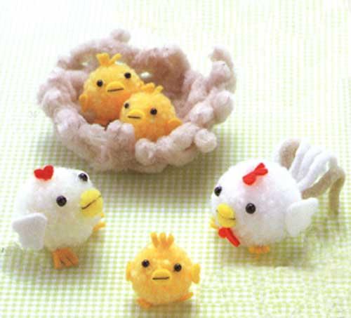Animales con pompones de lana portal de manualidades - Manualidades con lanas de colores ...