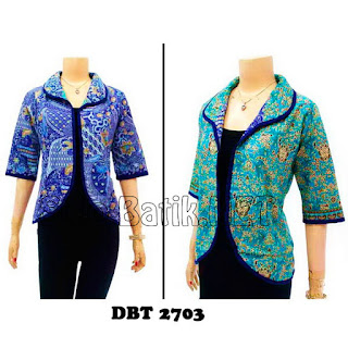 DBT2703 Model Baju Blouse Batik Modern Terbaru 2013