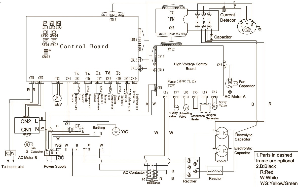 FIG 2 haier au242fhbia au482fibia au48nfibja wiring diagram commercial haier air conditioner wiring diagram at mifinder.co