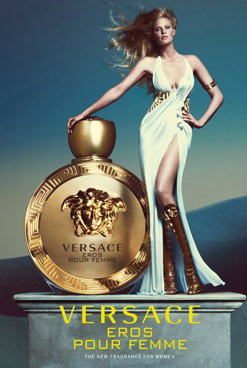 Lara Stone is a Grecian goddess for the Versace 'Eros Pour Femme' Campaign