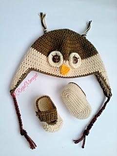 Topi Rajut Owl, Crochet Owl Hat, Crochet Baby Hat, Baby Booties