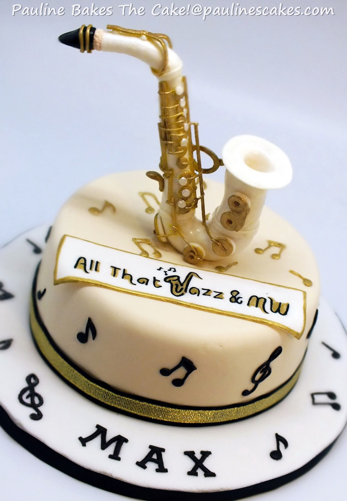 Jazz Themed Birthday Cakes