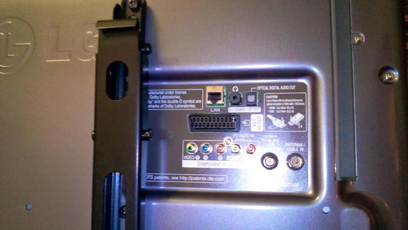 Телевизор LG 32LB650V  фото задняя панель