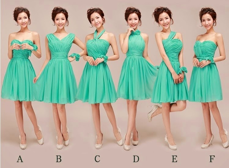 Emerald Green 6-Design Bridesmaid Dress