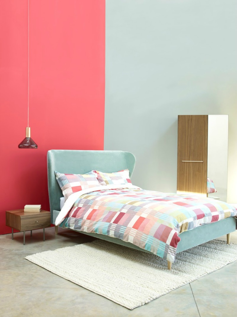 Beautiful Beds and patterned duvet from Habitat AW15