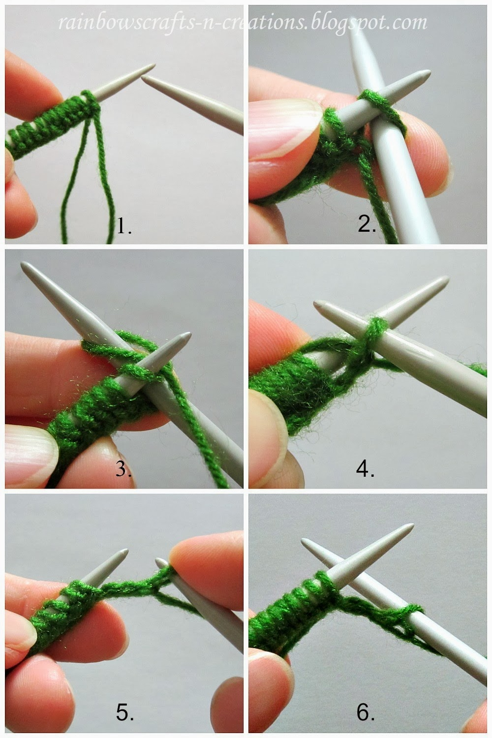 How To Knit A Purl Stitch Step By Step : Rainbows Crafts and Creations: Knit Stitch and Purl Stitch