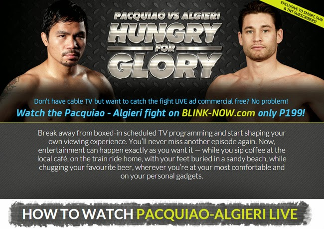 Watch Pacquiao vs Algieri Live Streaming, Live Feed and Video Replay