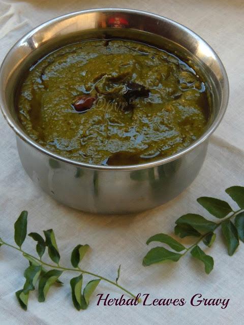 Herbal leaves gravy, Mooligai kuzhambu