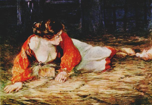 Николай Касаткин, Крепостная актриса в опале, кормящая грудью барског