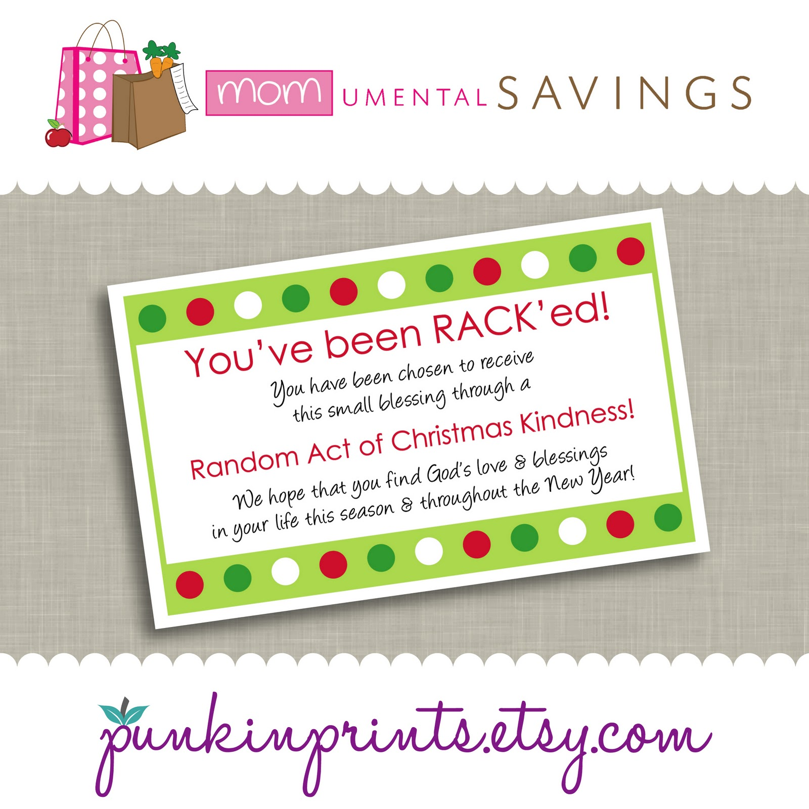 MOMumental Savings: Random Acts of Christmas Kindness