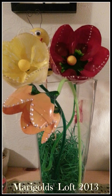 Recycled crafts PET Flowers Gonis
