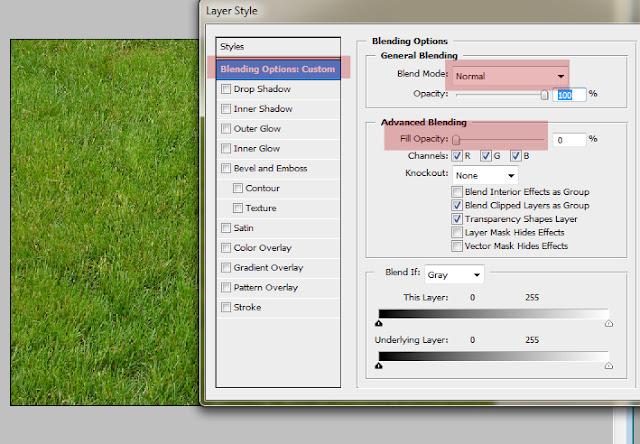 text2 Teks dengan Efek Kaca Transparan di photoshop