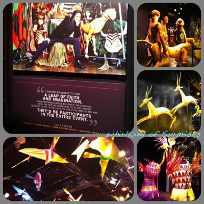 Colorful puppets Inside the Lion King Exhibit #DeliveryManMovie
