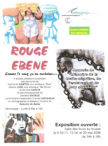 MINHA PRIMEIRA EXPOSIÇÃO INTERNACIONAL -  Cartaz da Exposição Coletiva na França - 2006