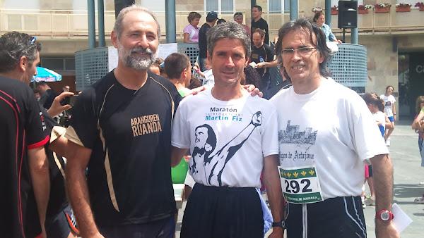 con mi amigo Jaime y un campeón del mundo