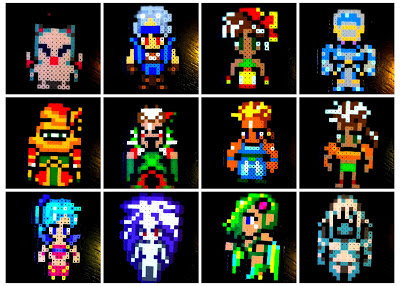 final fantasy perler hama beads, gamer, pixel art, final fantasy iv vi 4 6