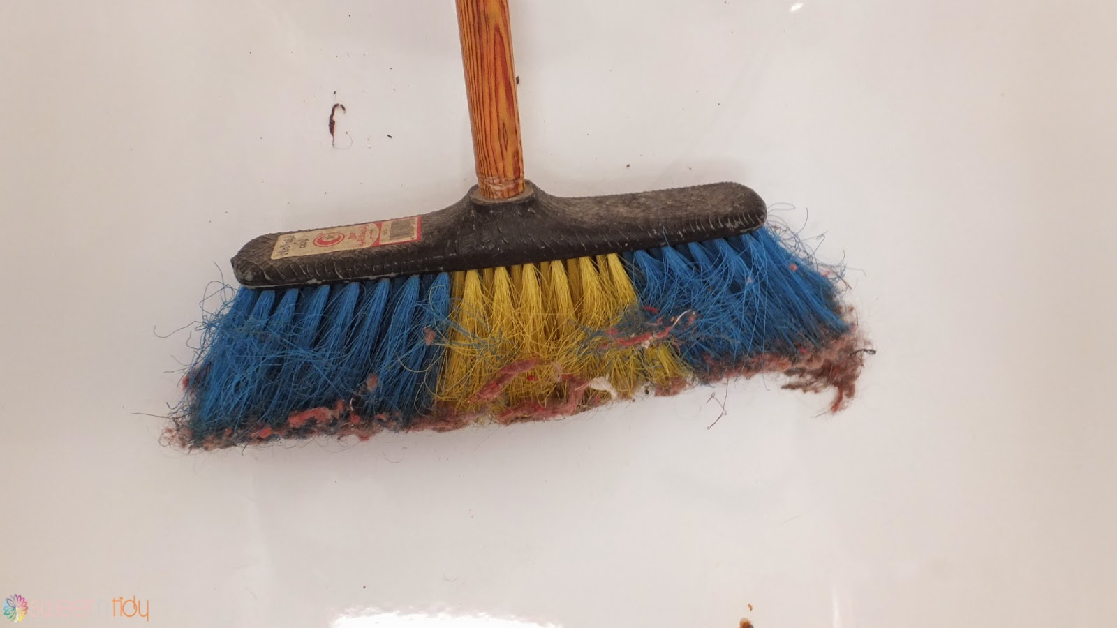 Cleaning mop and broom
